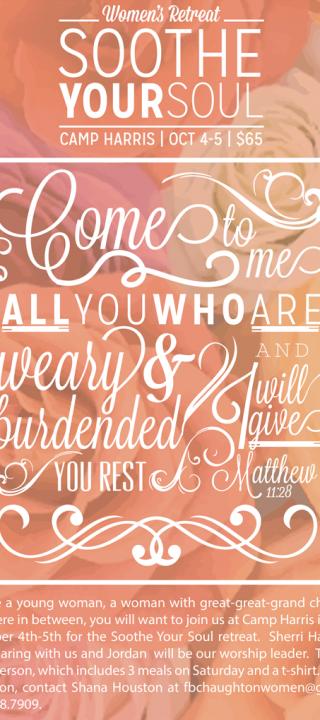 First Baptist Church Haughton Women's Retreat Poster | RS Retreat