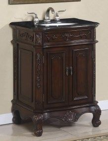 30 Inch Single Sink Bath Vanity With Granite Top 1930 Single