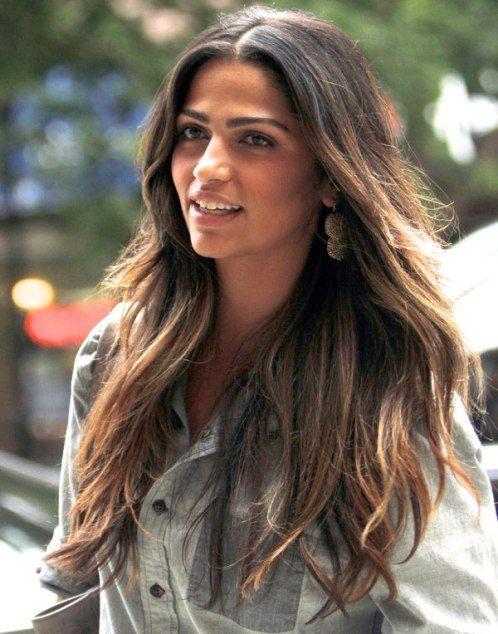Camila Alves Is My Hairspiration Hair Tint Hair Styles Dip Dye Hair