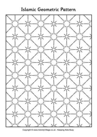 coloring pages islamic patterns drawing - photo#28