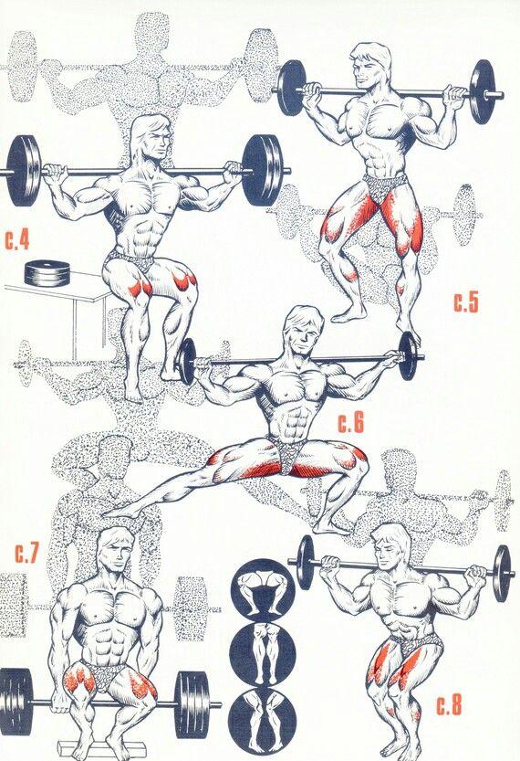Кроме этого, базовые упражнения чаще всего выполняются со штангой.