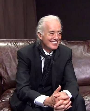 Jimmy Page interviewing in Paris, May 21, 2014