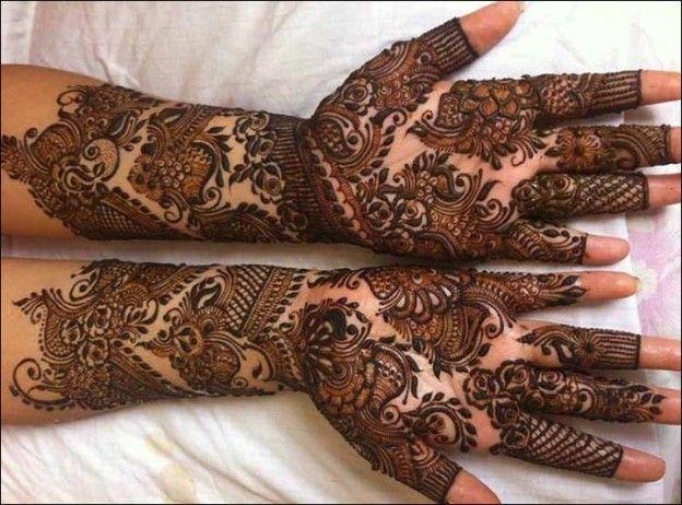 Bridal Mehndi Full Hand Designs : Rajasthani bridal mehndi designs for full hands top of