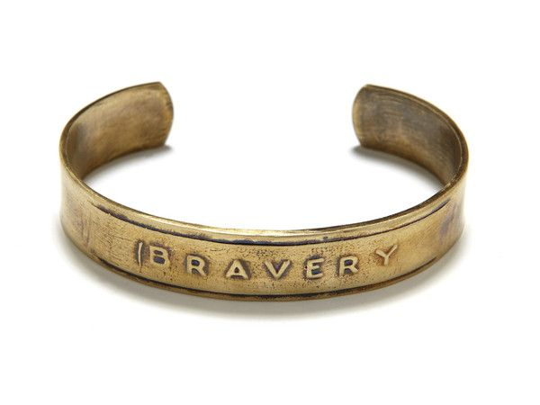 Bravery Cuff...great gift idea for anyone who has overcome a major milestone