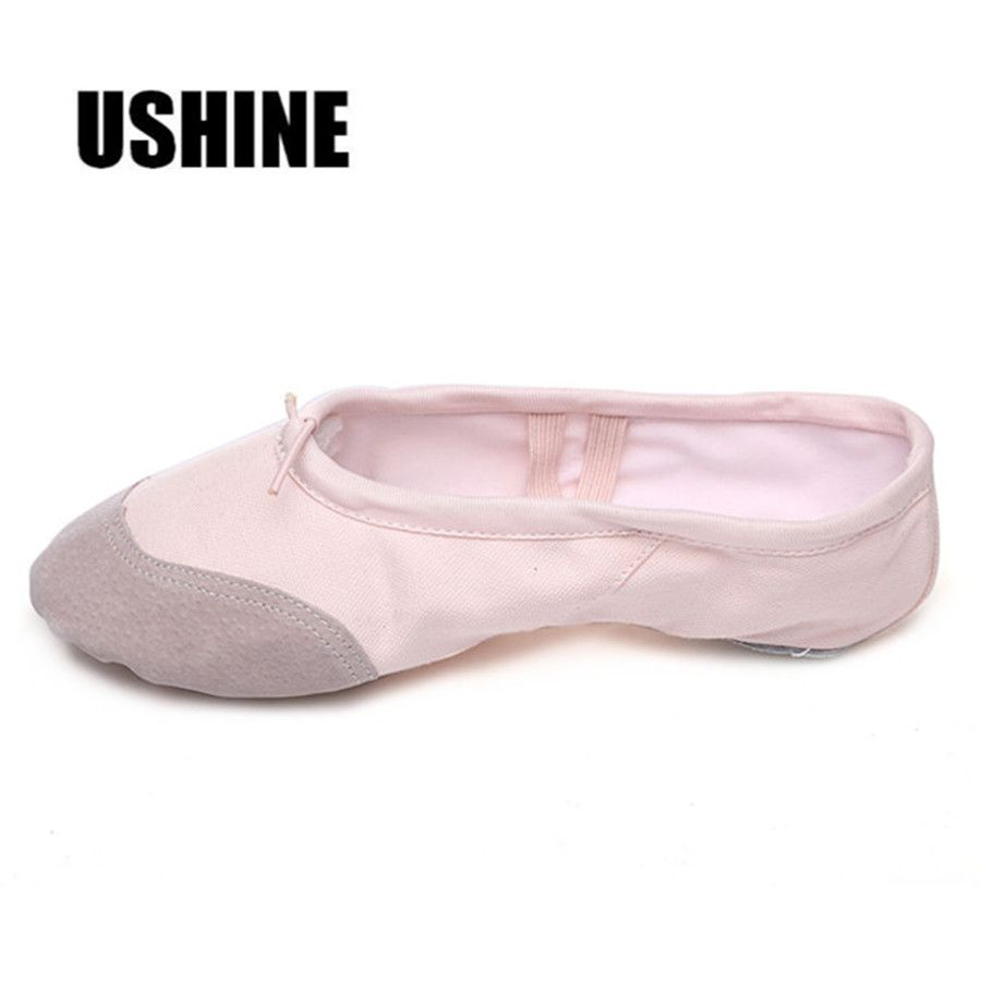 High Quality Toddler Girls Pink Canvas Ballet Dancing Yoga Shoes Slippers