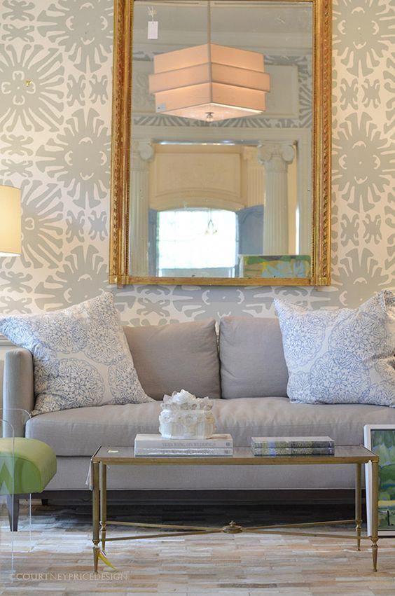Sigourney wallpaper with pillows in john robshaw danda courtney price design interiorarchitecture also rh pinterest