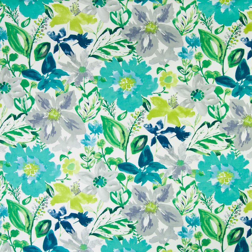 Turquoise Teal Floral Print Upholstery Fabric Floral Print Upholstery Printing On Fabric Floral Prints Pattern