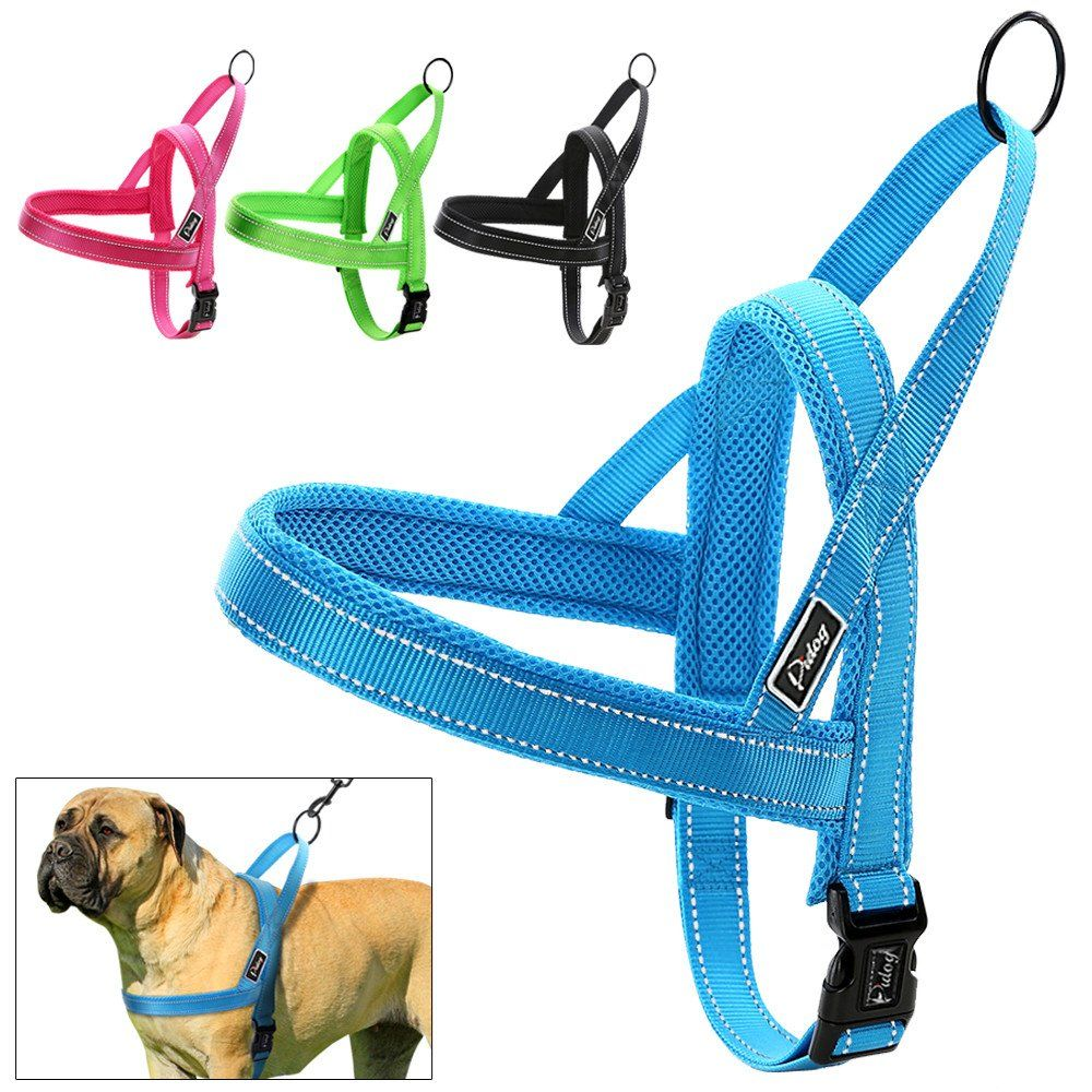 Poypet No Pull Dog Harness No Choke Front Lead Dog Reflective