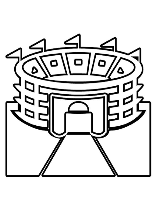 Stadium Super Bowl Coloring Page Football Coloring Pages