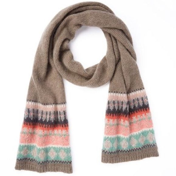 Boden Fair Isle Scarf | Boden, Fair isles and Accent colors