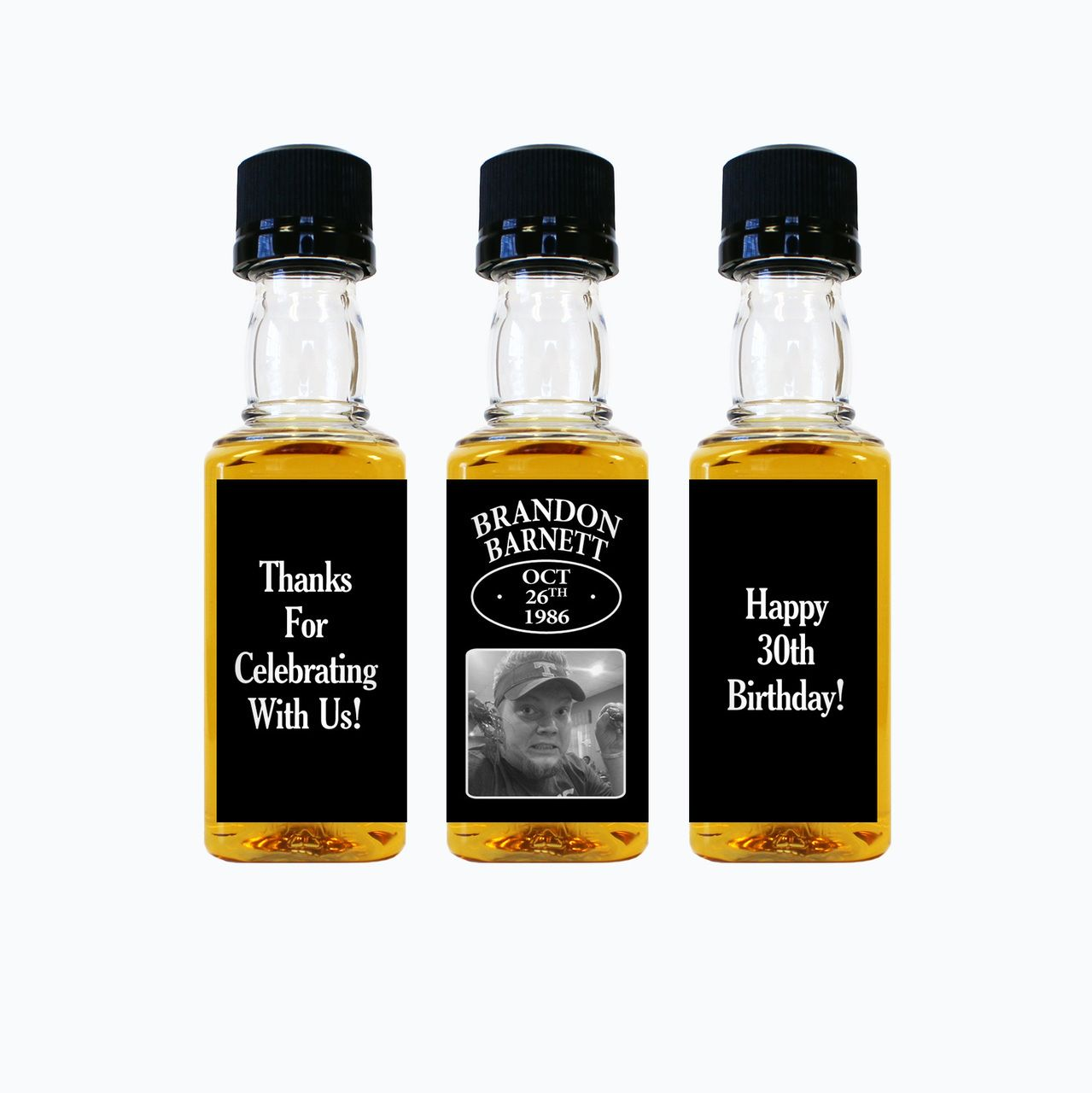 Happy Birthday Custom Mini Bottles | Mini bottles, Happy birthday ...