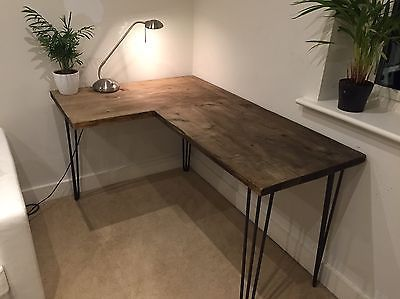 new style 02594 d141f Corner-Desk-With-Metal-Legs-Made-Of-Reclaimed-Wood-Scaffold ...