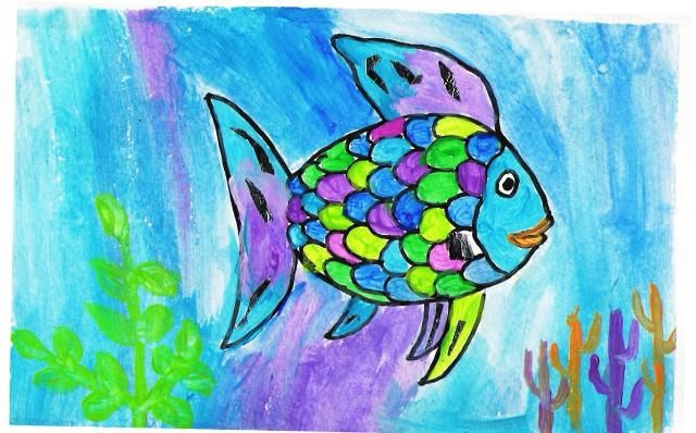 Rainbow Fish Art Lesson Preschool Art Rainbow Fish