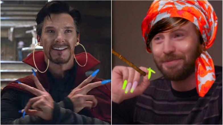 Avengers With Acrylic Nails Become Hilarious Twitter Memes Thank Chris Evans For Starting Th Chris Evans Nail Memes Memes