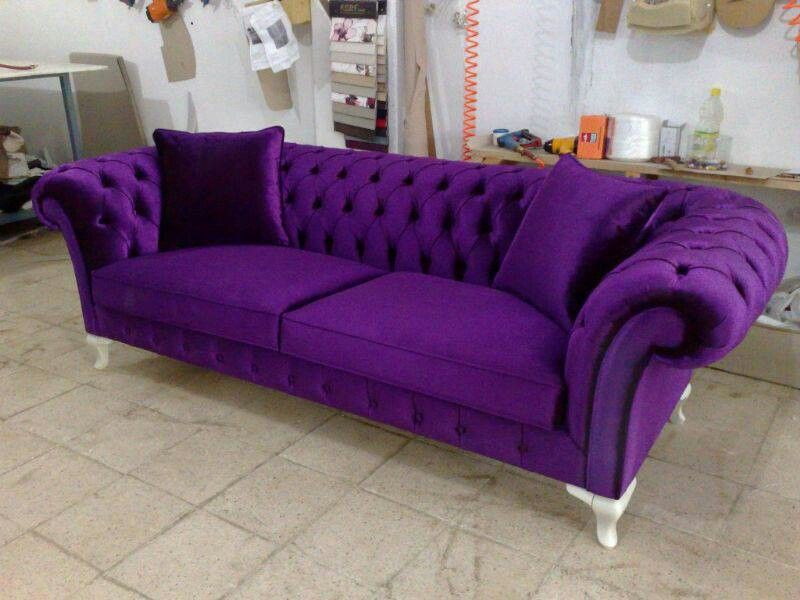 velvet chesterfield sofa prices best set designs for living room purple things pinterest couch sale tufted bed
