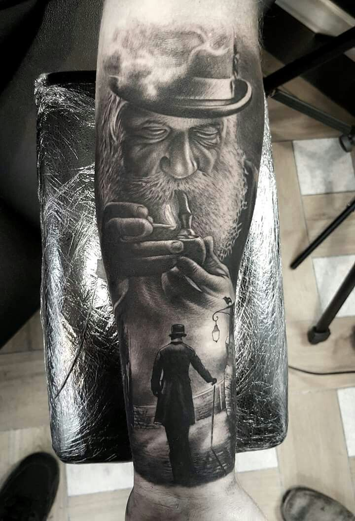 Great use of shading by Luke Sayer #tattoo #art #bodyart