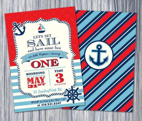 Etsy Listing 191023673 Nautical 1st Birthday Boy