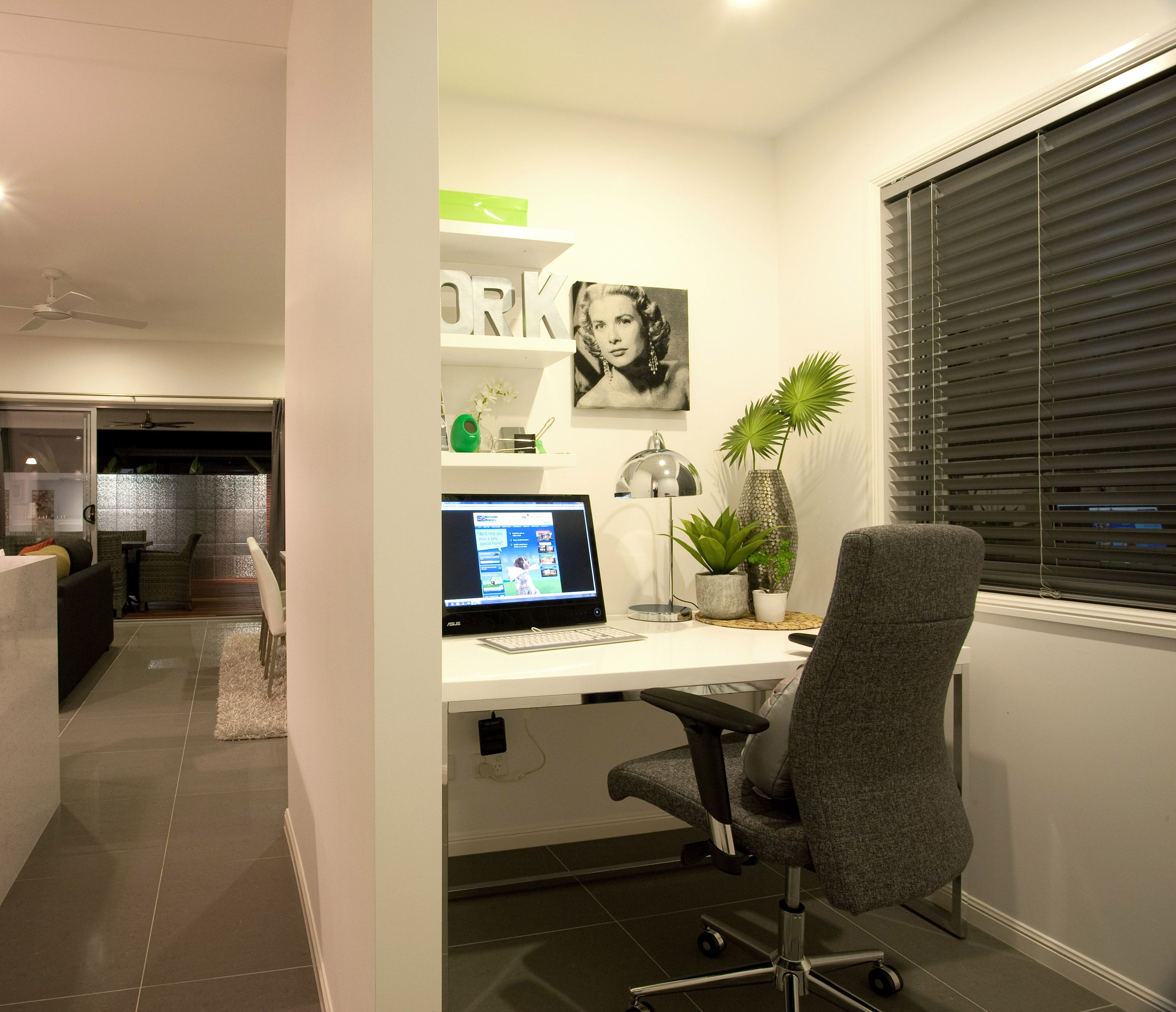 A great private study nook close to the open plan family area ...