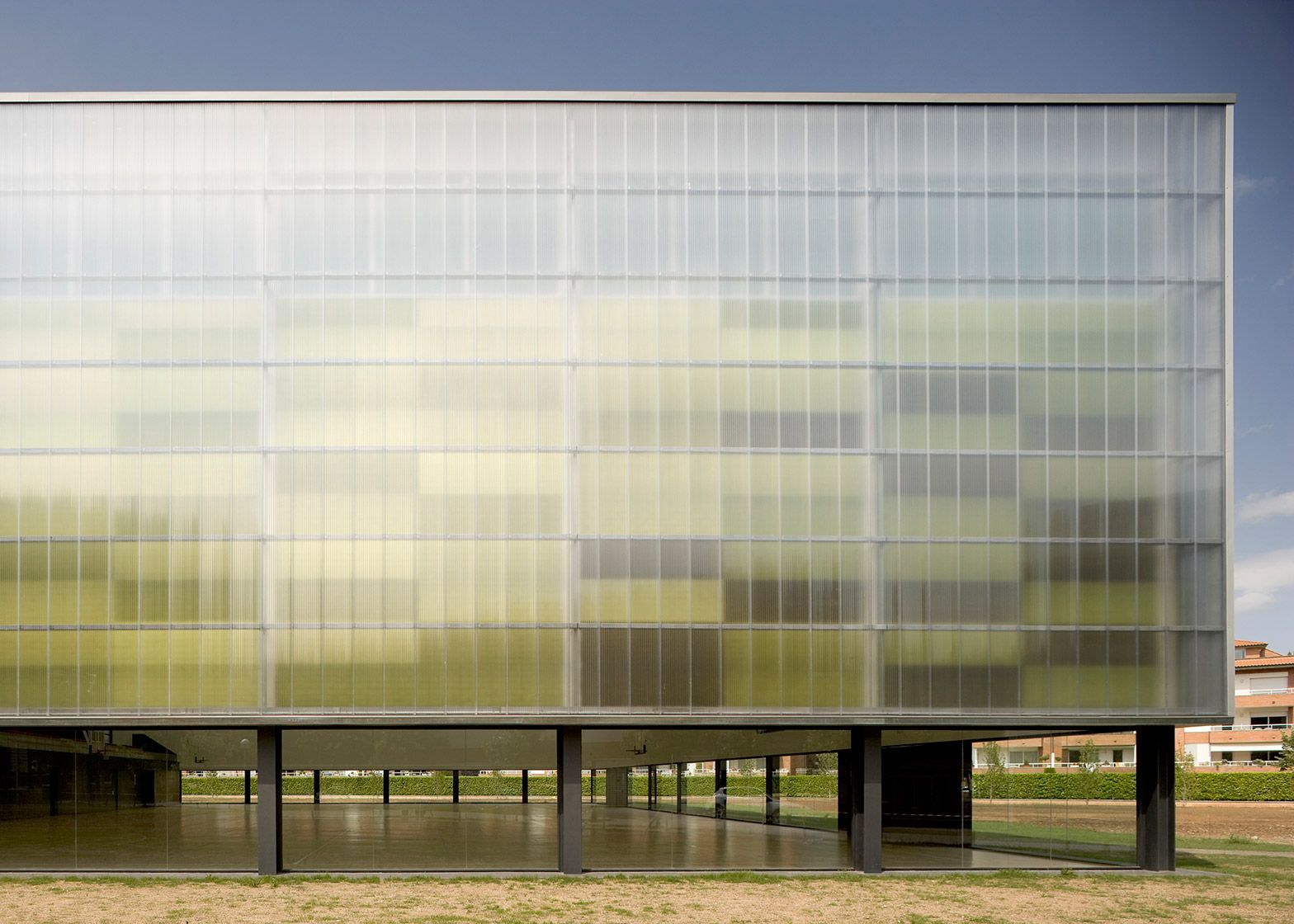 Architectural Translucent Panels : Bcq completes sports hall with translucent polycarbonate