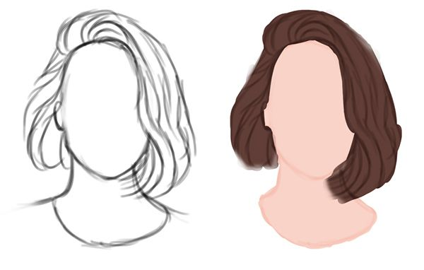 Hairstyles For Short Hair Drawing How To Draw Hair How To Draw Anime Hair Hair Sketch