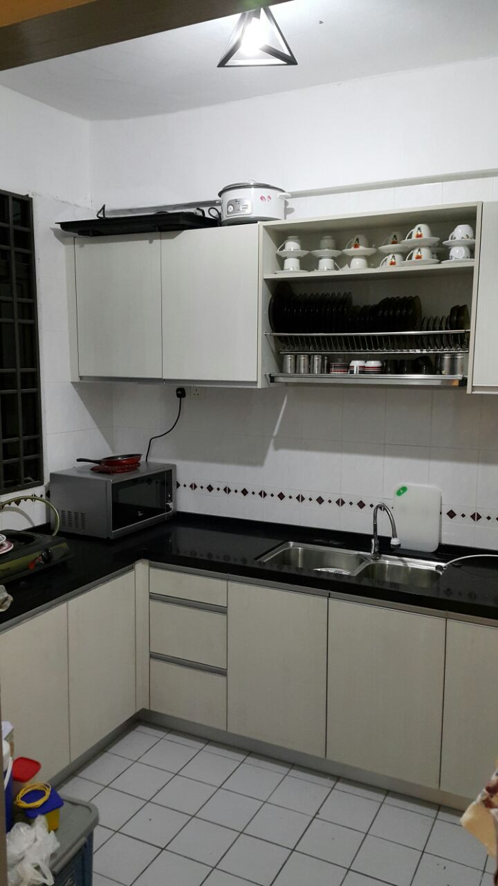 Particle board and solid surface top kitchen setrm8400 price included abase