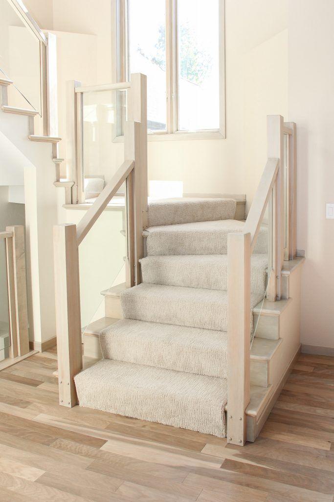 Best Beige Carpet Staircase Tan And Cream Hardwood Flooring In 640 x 480
