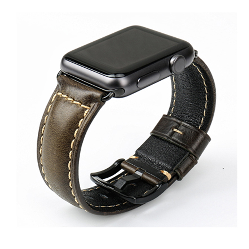 Apple watch band leather handmade, watch band for men