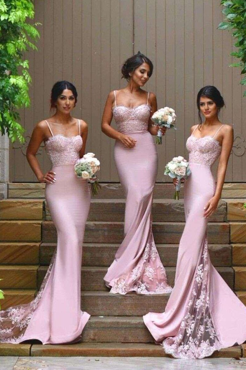 Vogue Sweep Train Zipper Silk Like Satin Natural Bridesmaid Dresses By Okdress Uk