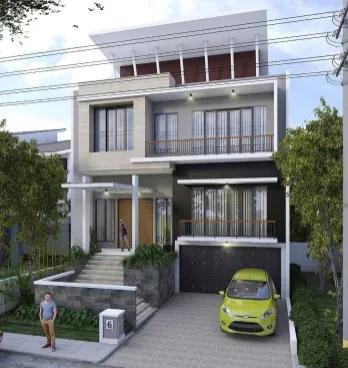 20 desain rumah minimalis 2 lantai type 36 terbaru