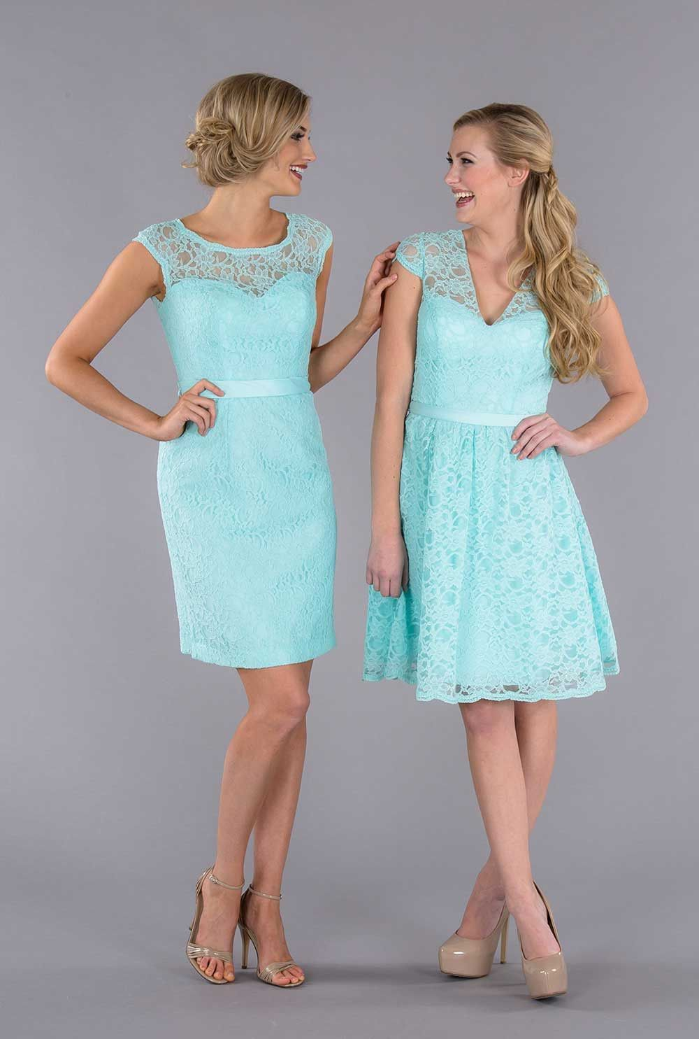 Colette | Mint bridesmaid dresses, Lace bridesmaids and Wedding