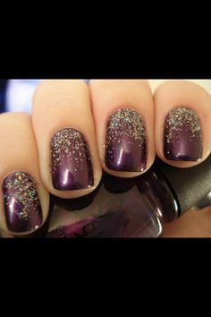 Image Result For Nails To Go With A Purple Dress Ombre Nails Glitter New Years Eve Nails Ombre Nail Designs