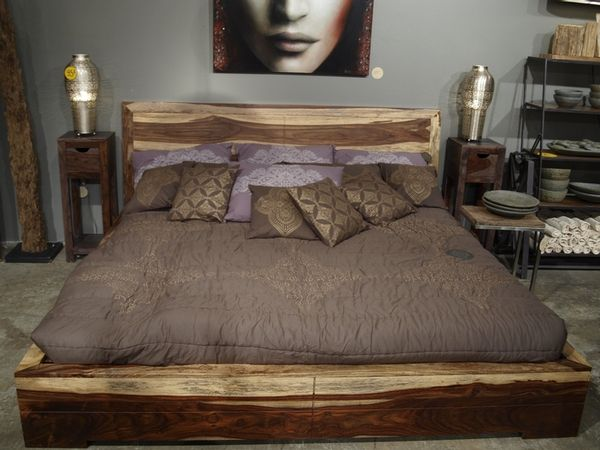 Romy King Bed In Rosewood At Home Furniture Store Bed Furniture