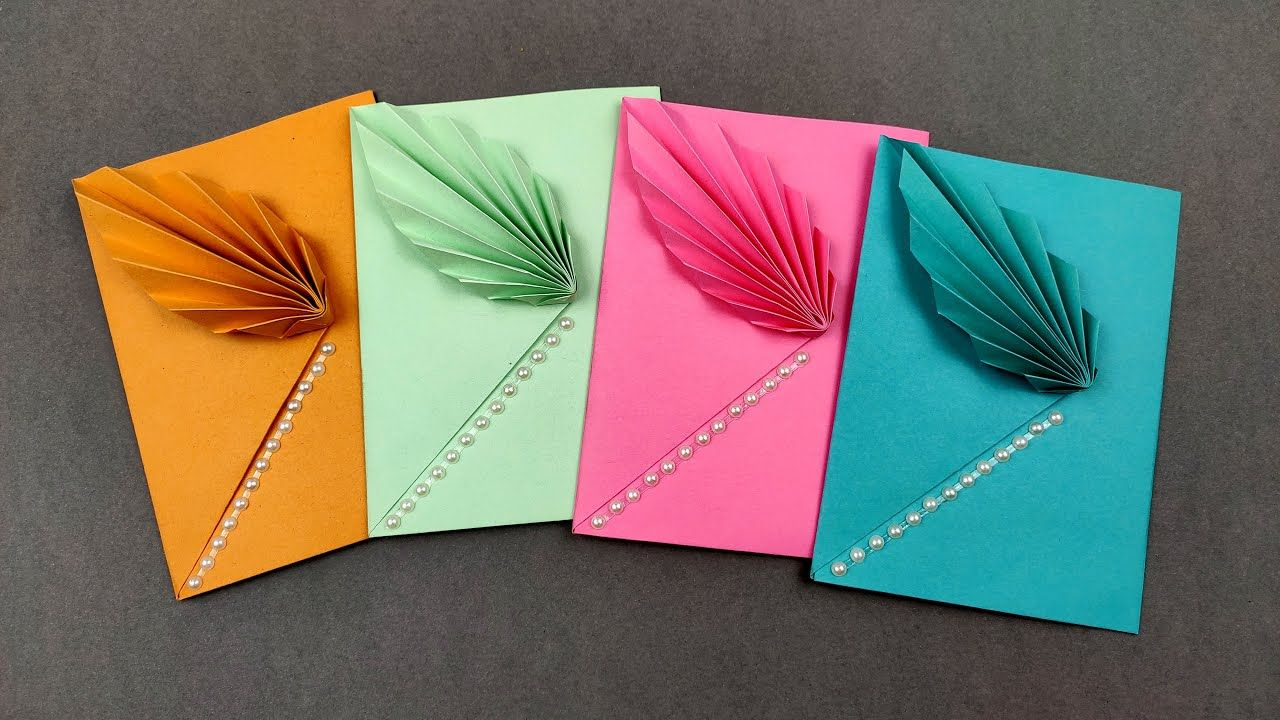 How To Make Easy Colored Paper Envelope Origami Envelope Making Ideas Diy Youtube Handmade Envelopes Origami Envelope How To Make An Envelope