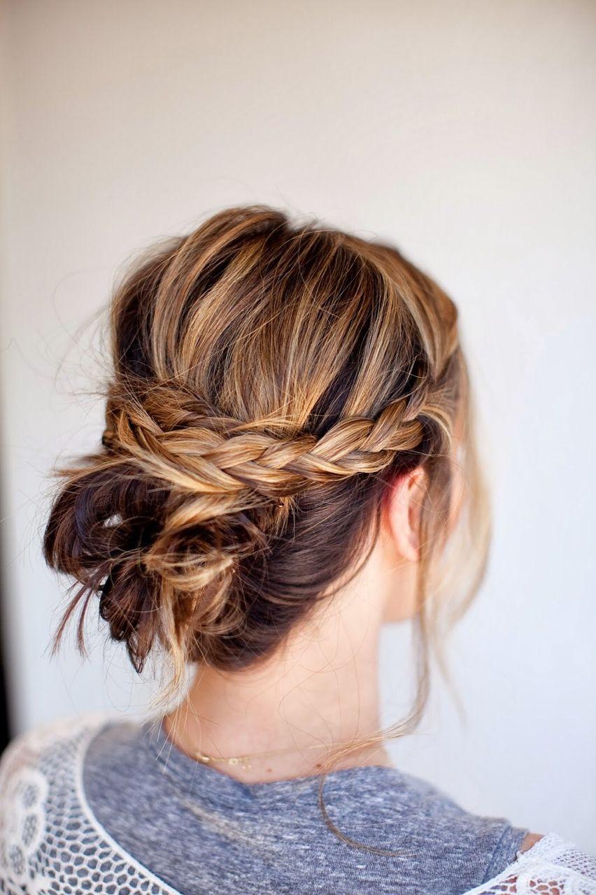 messy braid bun | hair | pinterest | hair, hair styles and