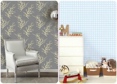 Accenting Walls with Temporary Wallpaper and Fabric | Temporary ...
