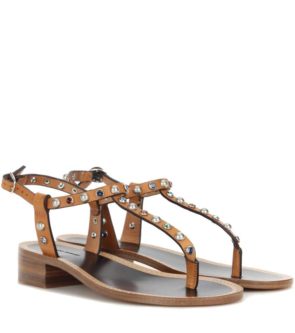 474a627fac10f ISABEL MARANT Verzierte Sandalen Aelith Aus Leder.  isabelmarant  shoes   sandalen