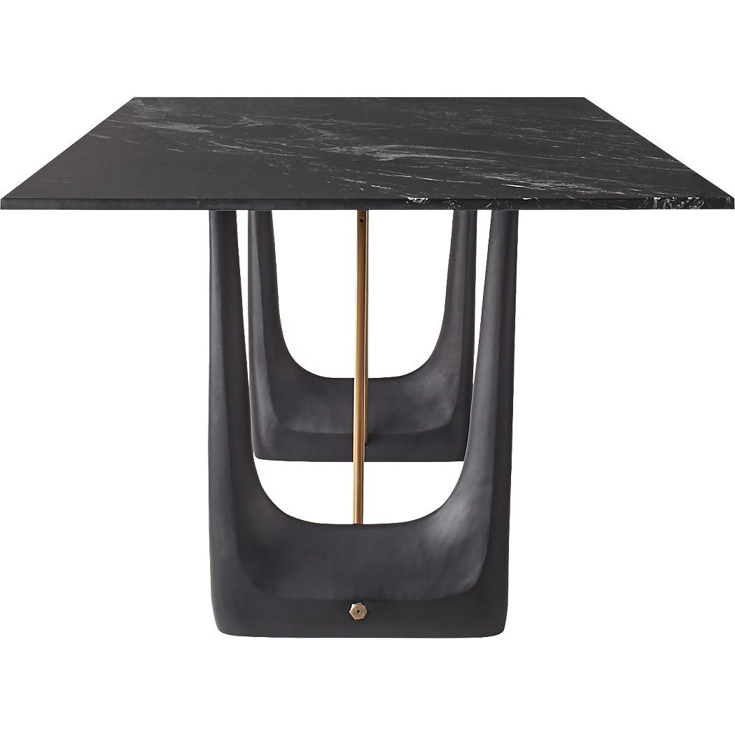 Rocco Rectangular Marble Dining Table Dining Table Marble