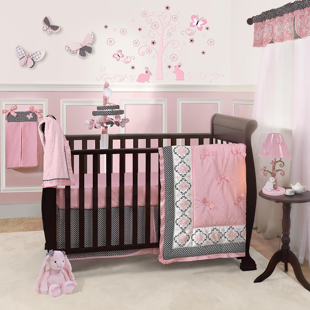 sets crib and girl clearance set unbelievable purple design nursery gray pink cribs baby amazing ideas amazon canada bedding under