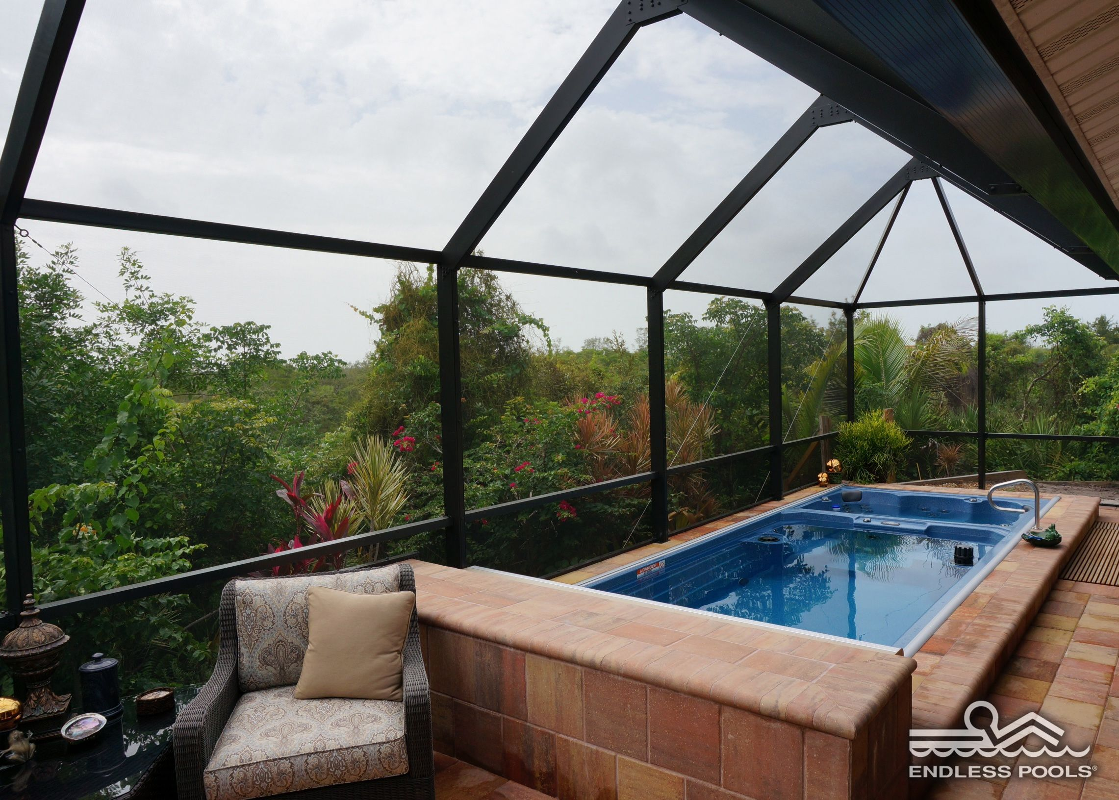 With A 19 39 Dual Temperature Swim Spa You Can Enjoy Exercise And Relaxation With Friends And