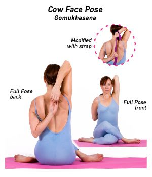 3 yoga poses to relieve headaches  cow face pose