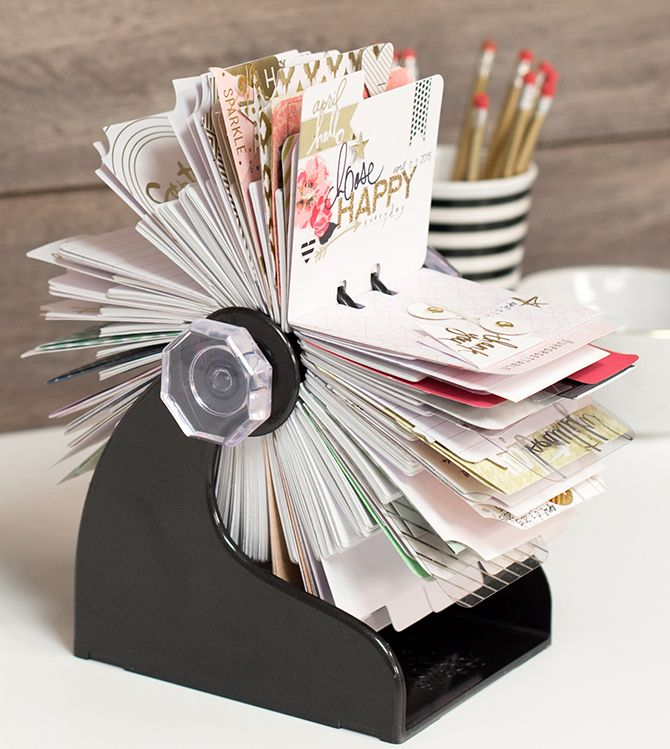 memory spinner (business card holder turned into a memory book ...