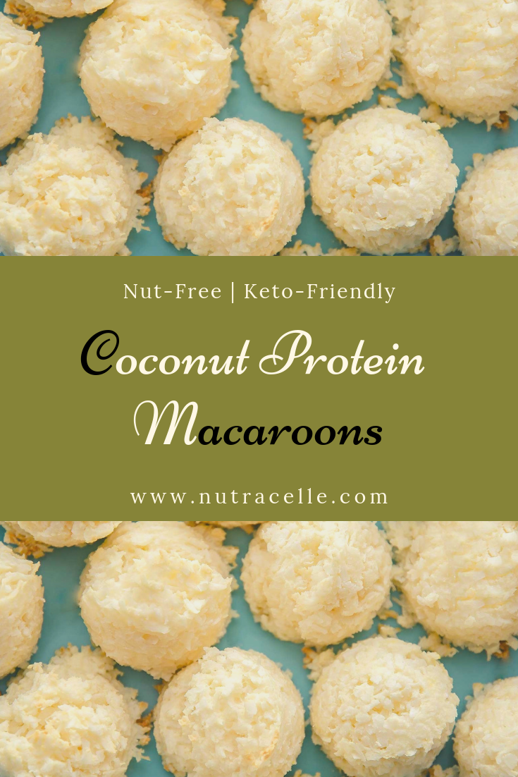 Low Carb Protein Coconut Macaroons #wheyproteinrecipes