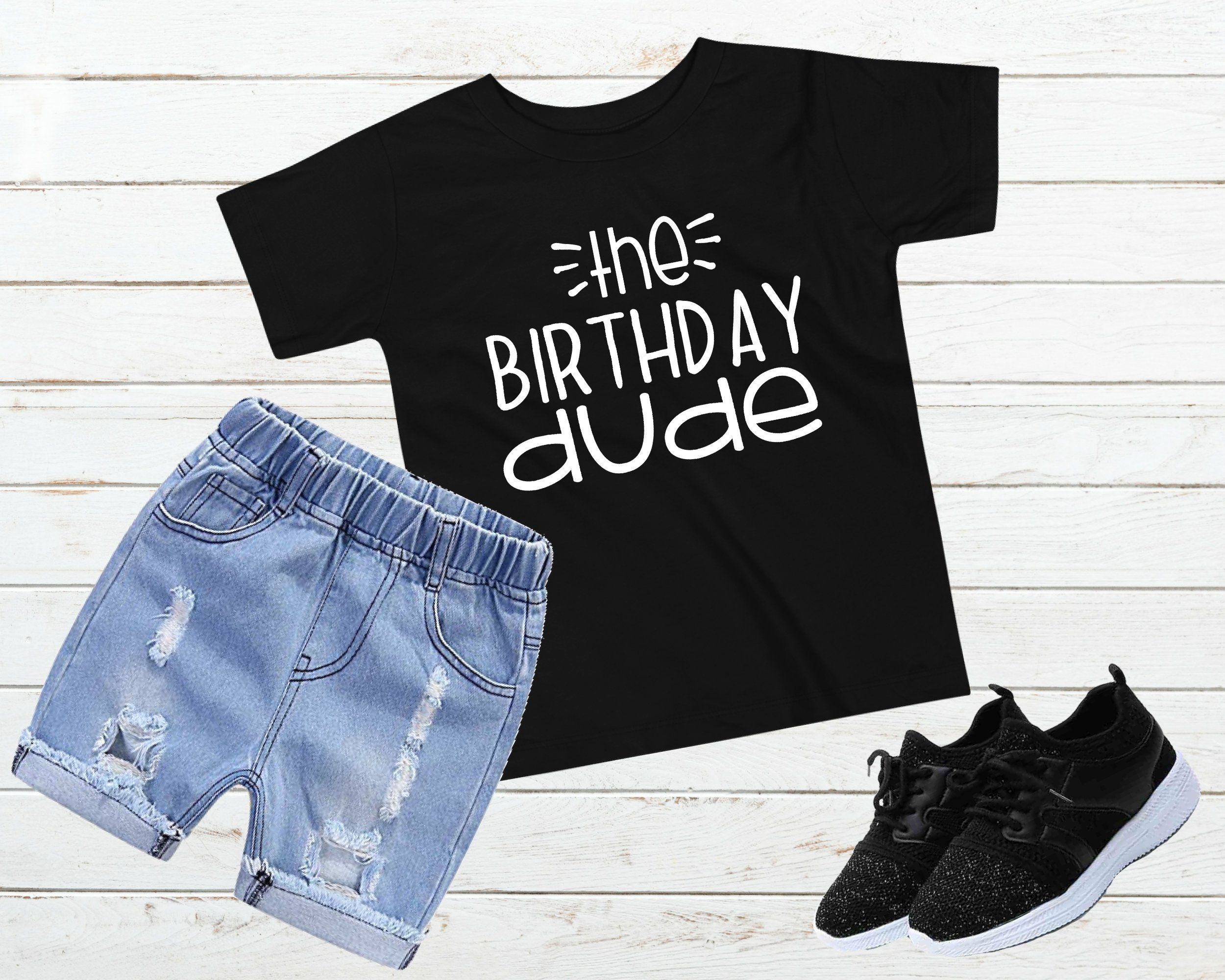 1st First Birthday Girl Boy Gift Tshirt Tee t Shirt Party Baby Toddler Present