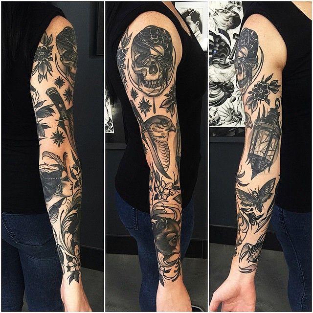 Oldlines Sleeve By Pari Corbitt Tattoos Tattooart Traditional Style Tattoo Traditional Tattoo Sleeve Tattoos