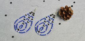Pandahall DIY Project – How to Make Blue Drop Seed Beaded Earrings