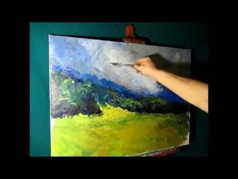 FREE! Heavy Textured Oil Painting, Landscape Part 1/3, Canvas Painting…
