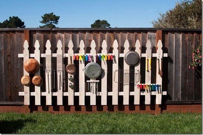 Diy Outdoor Music Wall Backyard Play Spaces Backyard