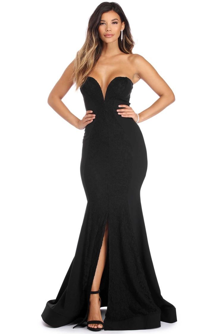 d40e1f4cd83 Diana Black Sweetheart Gown