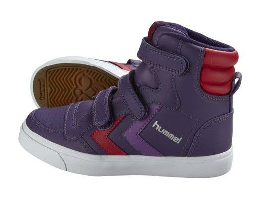 Hummel Purple High Top Trainer Girls Shoes Kids Sneakers Kids Fashion