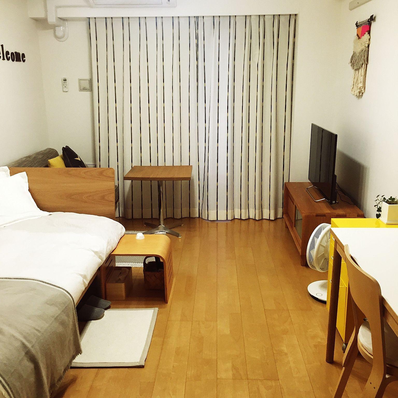 部屋全体 8畳 ワンルーム 一人暮らし 賃貸のインテリア実例 2015 10 26 21 14 10 Roomclip ルームクリップ 8畳 インテリア インテリア 1人暮らし インテリア